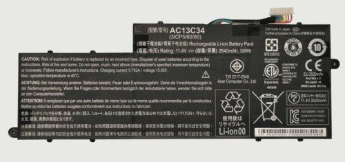 Replacement Acer Aspire V5-122p Series Ac13c34 Battery