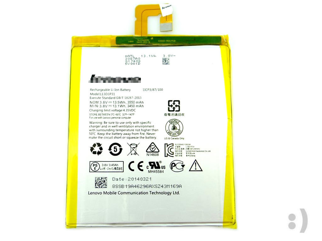Original Battery L13D1P31 For LENOVO IdeaTab Tablet S5000