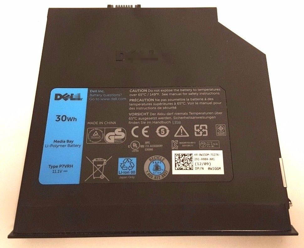 Replacement Dell P7VRH e6420 e6520 e6320 Latitude Media Bay Battery
