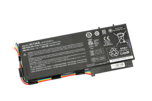 Replacement AC13A3L 2ICP5/60/80-2 Acer Aspire P3-131 P3-171 40Wh 7.6V Battery