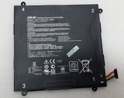 Replacement ASUS Transformer Book TX300CA 7.6V 38Wh C21-TX300P Battery