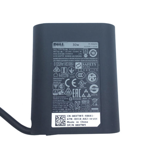 30W 08XTW5 DA30NM150 HA30NM150 AC Adapter Charger for DELL XPS 12 (9250) USB-C
